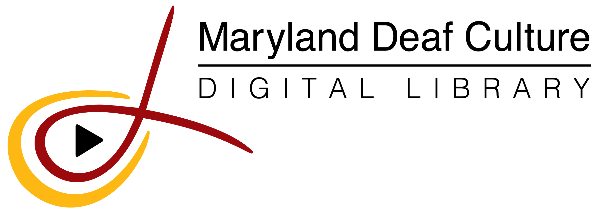 Logo for Maryland Deaf Culture Digital Library