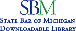Logo for State Bar of Michigan