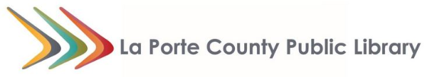 Logo for La Porte County Public Library
