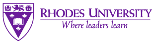 Logo for Rhodes University