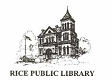 Logo for Rice Public Library