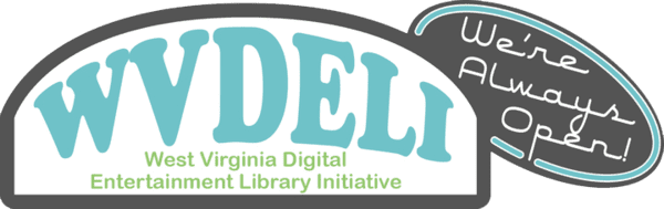 Logo for West Virginia Downloadable Entertainment Library Initiative