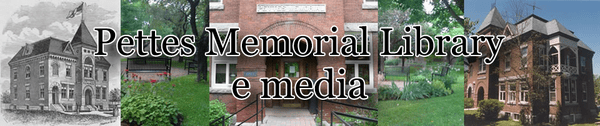 Logo for Pettes Memorial Library