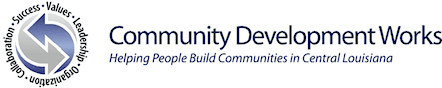 Logo for The Rapides Foundation - Community Development Works